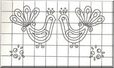 Slovak pattern Bird Embroidery, Embroidery Patterns, Types Of Art, Coloring Pages, Birds, Projects, Inspiration, Charts, Drawings