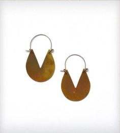 Brass Cut-Out Drop Earrings by Is Was & Will Be on Scoutmob Shoppe