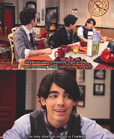 "JONAS ""The only shorty in my life is Frankie"" #missthisshow"