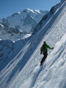 ski descent north face Domes du Miages, Chamonix, Fr.