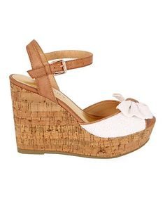Take a look at this White Tahlia Wedge by REPORT Footwear on #zulily today! $34.99, regular 60.00