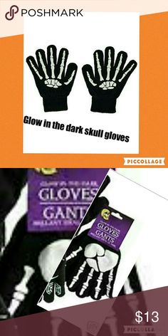 Glow in the dark gloves NWT Perfect for Halloween ??these are warm and so fun let your paws be toasty while trick or treating !! They glow in the dark ! Accessories