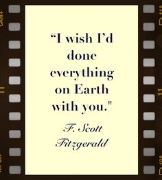 I love F. Scott Fitzgerald's ability to capture so much emotion in so few words.