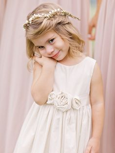 Adorable flower girl. Photography : Amy Arrington Photography Read More on SMP: http://www.stylemepretty.com/2016/08/19/rustic-foxhall-resort-wedding/
