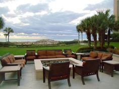 Fire pit at the Ritz Carlton, Amelia Island FL