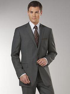 Suits - Tallia Black Label Modern Fit Charcoal Multistripe Suit - Men's Wearhouse