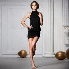 Ladylike Style Polyester Color Block Beam Waist Sleeveless Bodycon Knee Length Dress For WomenBodycon Dresses | RoseGal.com