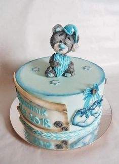 Christening cake - cake by Veronika Beautiful Cake Designs, Beautiful Cakes, Amazing Cakes, Crazy Cakes, Christening Cake Boy, Cakes For Boys, Sugar Art, Gum Paste, Cupcake Cookies