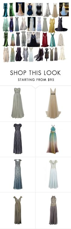 """""""Dresses 28"""" by spellcasters ❤ liked on Polyvore featuring Zac Posen, Marchesa, J. Mendel, MARA, Adrianna Papell, Temperley London, Traffic People and Catherine Deane"""