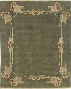 Carpet reproduction of design by Archibald Knox from Michael Fitzsimmons Decorative Arts.