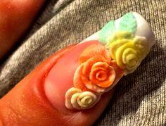 Easter 3d acrylic nail (uv-acrylic)