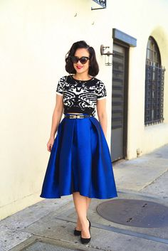 * MADE TO ORDER: The High Low Skirt in Blue