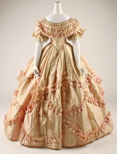 Dress ca. 1860-1861 via The Costume Institute of the Metropolitan Museum of Art