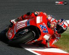 Stoner on Ducati Ducati Motorcycles, Yamaha, Ducati Motogp, Racing Team, Road Racing, Grand Prix, Velentino Rossi, Motosport, Street Bikes