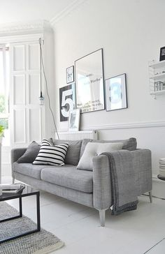 living room with ikea karlstad sofa and eames lounge chair my home pinterest black eames. Black Bedroom Furniture Sets. Home Design Ideas