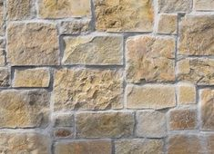 With warm golds and yellows, Jerusalem Sandstone is the ideal choice for rustic and traditional farmhouse style properties. Stone Masonry, Stone Veneer, External Wall Cladding, Stone Cladding, Grey Stone, Natural Stones, Farmhouse Style, Home Improvement, House Design