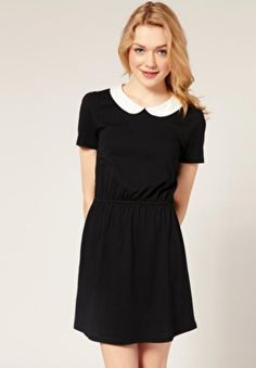 My favorite little black dress with a Peter Pan collar. - Yvonne