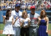 Girls' Generation Tiffany, Taeyeon and Sunny Perform at LA Dodgers Game #girlsgeneration #tiffany #taeyeon #sunny