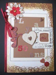 Carte noces d or 100 stampin up d anciens et nouveau catalogue noces d 39 or pinterest - 4 ans de mariage noce de quoi ...