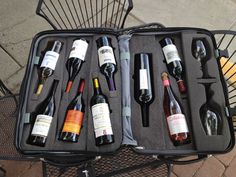 This suitcase is perfect for wine lovers and will keep your bottles from breaking. #GiftsForWineLovers