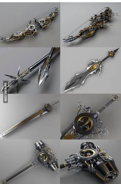 Just some steampunk weapons