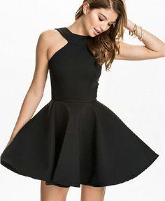 Description Season  Summer Pattern Type  Plain Sleeve Length  Sleeveless  Color  Black Dresses Length  Short Style  Occasion Material  Polyester  Neckline ... c0d15ef7a