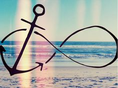 anchor infinity ~ I WANT and adding a bird to it :) Lots of meaning all wrapped up in one tattoo !