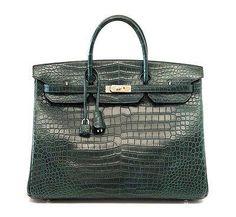 42db943dbb05 BIRKIN 40 Hermes bag VERT FONCE matte porosus Crocodile palladium hardware  ve – mightychic Hermes Birkin