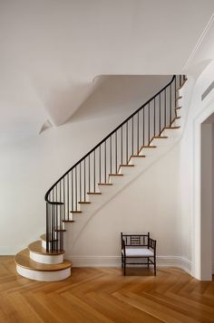 West Side Townhouse, New York by O'Neill Rose Architects Stair
