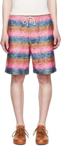 Junya Watanabe - Multicolor Mohair Striped Shorts