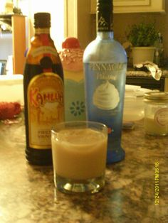 I spruced up the White Russian  1 shot Whipped Cream Vodka  1 shot French Vanilla Kahlua  Pour over ice, fill with milk, stir and enjoy the epic French Vanilla, whipped cream White Russian!