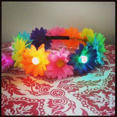 Light Up Flower Crown // EDC Crown // You Pick Daisy Colors :) on Etsy, $14.50