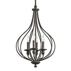 Kichler Lighting Kensington 16.25-in W Olde Bronze Pendant Light