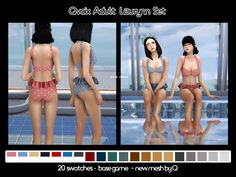 CC Info _______________________ 2 files (top & bottom) included in winrar; u will need to unzip it swatches include solids/pats & Maxis, Sims Games, Sims 4 Mm, Swimming Outfit, Sims 4 Cc Finds, Sims 4 Clothing, The Sims4, Ts4 Cc, Sims 4 Custom Content