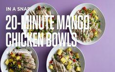 Recipe: 20-Minute Mango Chicken Bowls [Video]