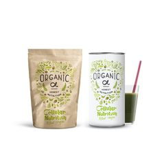 Design #70 by Martis Lupus | Packaging design for a green herbal / protein shake