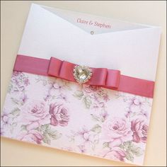 Rose Wallet Wedding Invitation