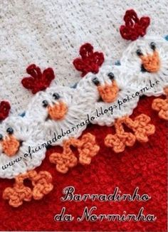 Crochet Afghans Ideas Vintage Crochet Chicken Patterns The Cutest Collection - You will love this collection of Vintage Crochet Chicken Patterns and we have rounded up the sweetest collection ever! Check out all the ideas now. Appliques Au Crochet, Crochet Trim, Knit Or Crochet, Crochet Gifts, Crochet Motif, Crochet Edgings, Crochet Fabric, Crotchet, Crochet Curtains
