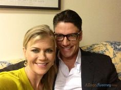 James Scott and Alison Sweeney behind the scenes Days of our Lives Chad And Abby, Scott And Allison, Peter Reckell, Deidre Hall, Alison Sweeney, Stiles And Lydia, James Scott, Casting Pics, Days Of Our Lives