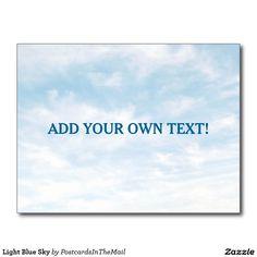 Light Blue Sky Postcard
