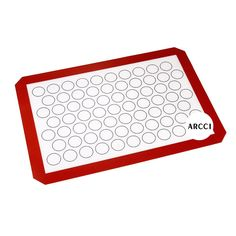 ARCCI kitchen Silicone Baking Mat Set Non-Stick Cookie Sheet Macaron Toast BBQ Oven (Red) *** Don't get left behind, see this great product offer  : Baking necessities