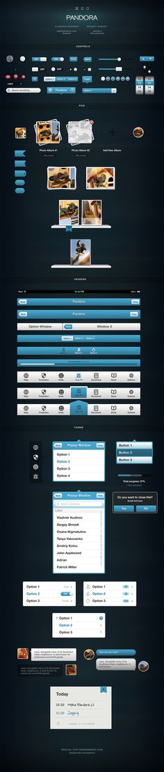 Pandora UI for iOS – User Interface Pack - Developer license $149.00