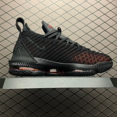 Mens Nike LeBron 16 Fresh Bred Black University Red AO2595-002-2 b5c847cd0