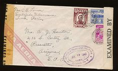 Peru - WWII Double Censored Cover Mailed To Prescott Arizona, Dated 1943. - http://stamps.goshoppins.com/latin-american-stamps/peru-wwii-double-censored-cover-mailed-to-prescott-arizona-dated-1943/