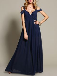 Navy Off The Shoulder Maxi Dress 26.99