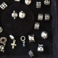 Pandora charms 25$ each 25$ EACH for any and all charms ACCEPT DOG, CROSS and GOLD CHARMS Pandora Jewelry Bracelets