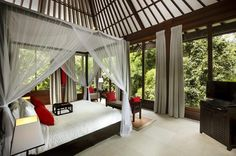 The Sanctuary Bali Villa is an extremely exclusive and magical villa in Bali with 9 Bedrooms, 9 Bathrooms and a swimming Pool. The villa is surrounded by beautiful tropical plants with unobstructed infinity views over Bali's beauty.
