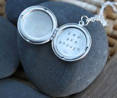 A reminder for you. For all of us. :: Customizable Soul Mantra locket