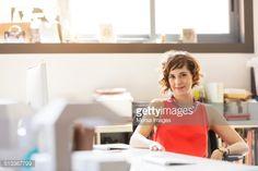 Stock Photo : Portrait of businesswoman in office