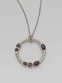 David Yurman - Black Diamond & Sterling Silver Necklace at London Jewelers!